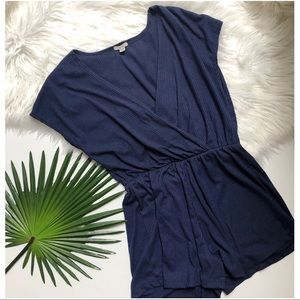[Urban Outfitters] Ecote Blue Short Sleeve Romper